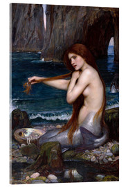 Acrylglasbild  Die Meerjungfrau - John William Waterhouse