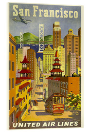 Acrylglasbild  San Francisco United Airlines