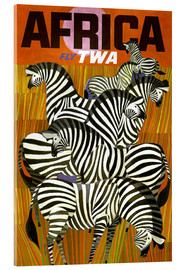Acrylglasbild  Africa Fly TWA - Travel Collection
