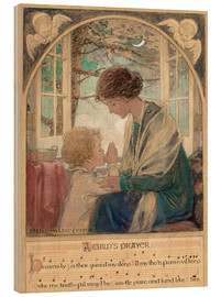 Holzbild  Ein betendes Kind - Jessie Willcox Smith