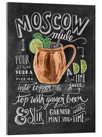 Acrylglasbild  Moscow Mule Rezept (Englisch) - Lily & Val