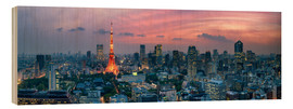 Holzbild  Tokio Skyline - Jan Christopher Becke