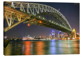 Leinwandbild  Sydney Harbour Bridge I - Thomas Hagenau