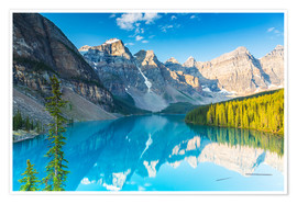 Poster Moraine Lake in den Rocky Mountains - Kanada