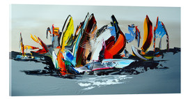 Acrylglasbild  Abstract sailing - Theheartofart Gena
