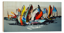 Holzbild  Abstract sailing - Theheartofart Gena
