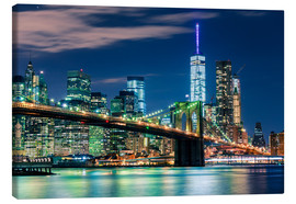 Leinwandbild  New York Skyline und Brooklyn Bridge - Sascha Kilmer