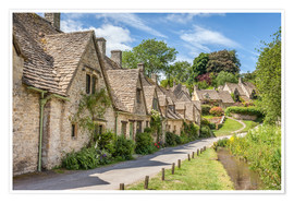 Premium-Poster  Arlington Row in Bibury, Cotswolds, Gloucestershire (England) - Christian Müringer