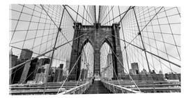 Acrylglasbild  Brooklyn Bridge, New York City (monochrom) - Sascha Kilmer