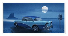 Premium-Poster Blue night on Route 66