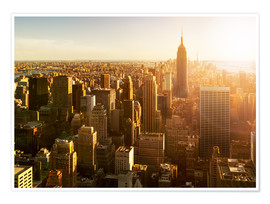 Jan Christopher Becke - Manhattan Skyline in NY bei Sonnenuntergang