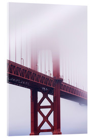 Acrylglasbild  Golden Gate Bridge im Nebel - Jean Brooks