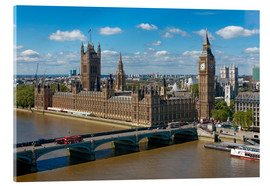 Acrylglasbild  Westminster Bridge mit Houses of Parliament - Walter Rawlings