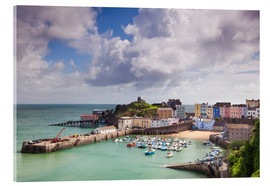Acrylglasbild  Tenby Harbour, Pembrokeshire, West Wales, Wales, United Kingdom, Europe - Billy Stock