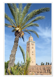 Premium-Poster Minaret of the Koutoubia Mosque, UNESCO World Heritage Site, Marrakech, Morocco, North Africa, Afric