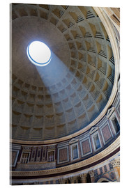 Acrylglasbild  A shaft of light through the dome of the Pantheon, UNESCO World Heritage Site, Rome, Lazio, Italy, E - Martin Child