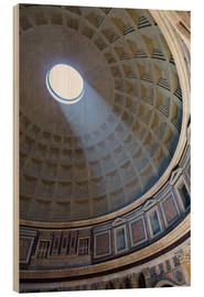 Holzbild  A shaft of light through the dome of the Pantheon, UNESCO World Heritage Site, Rome, Lazio, Italy, E - Martin Child