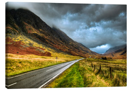 David Wogan - Straße in Glencoe, Schottland