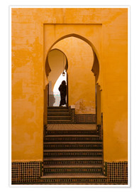 Premium-Poster Mausoleum of Moulay Ismail, Meknes, Morocco