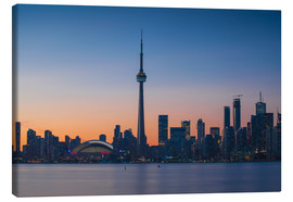 Leinwandbild  View of CN Tower and city skyline, Toronto, Ontario, Canada, North America - Jane Sweeney