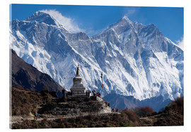Acrylglasbild  Tenzing Norgye Stupa & Mount Everest - John Woodworth