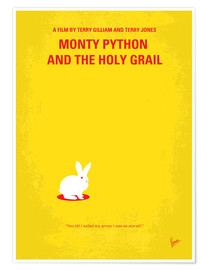 Premium-Poster  No036 My Monty Pyton And The Holy Grail minimal movie poster - chungkong