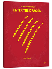 Leinwandbild  No026 My Enter the dragon minimal movie poster - chungkong
