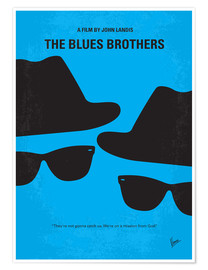 Poster No012 My Blues brothers minimal movie poster