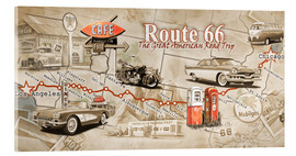 Acrylglasbild  Route 66 Map - Georg Huber