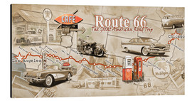 Alubild  Route 66 Map - Georg Huber