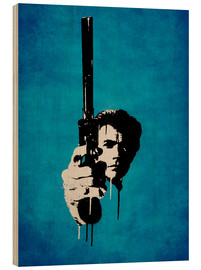 Holzbild  Clint Eastwood - Dirty Harry - Durro Art