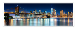 Sascha Kilmer - New York City Skyline bei Nacht (Panorama)