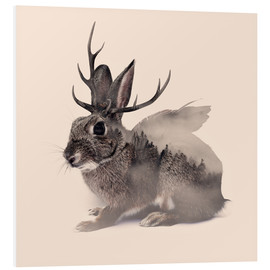 Hartschaumbild  wolpertinger - Peg Essert