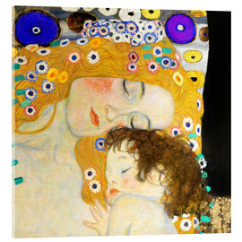 Acrylglasbild  Mutter mit Kind (Detail) - Gustav Klimt