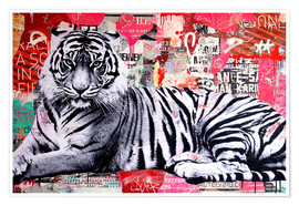 Premium-Poster  Tiger - Michiel Folkers