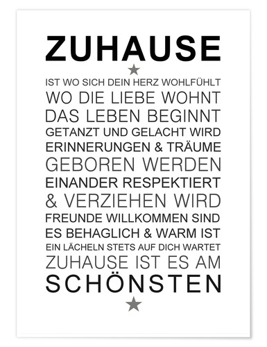 Poster Zuhause
