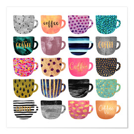 Premium-Poster Pretty Coffee Cups