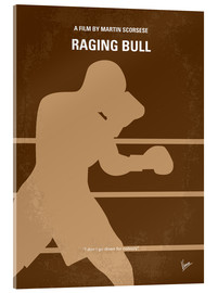 Acrylglasbild  No174 My Raging Bull minimal movie poster - chungkong