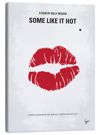 Leinwandbild  No116 My SOME LIKE IT HOT minimal movie poster - chungkong