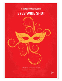 Poster No164 My Eyes wide shut minimal movie poster