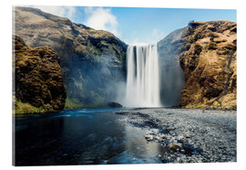 Acrylglasbild  Skogafoss Wasserfall - Images Beyond Words