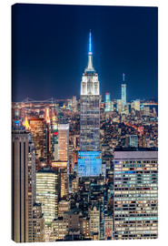 Leinwandbild  Empire State Building by Night - Sascha Kilmer