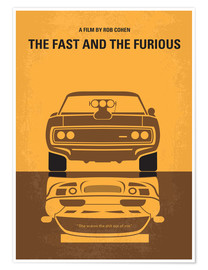 Premium-Poster  No207 My The Fast and the Furious minimal movie poster - chungkong