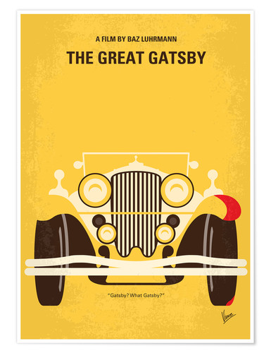Poster No206 My The Great Gatsby minimal movie poster
