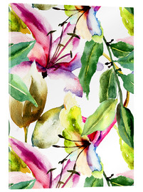 Lilien in Aquarell