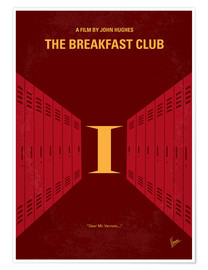 Poster No309 My The Breakfast Club minimal movie poster