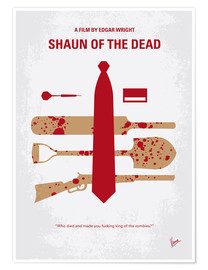 chungkong - No349 My Shaun of the Dead minimal movie poster