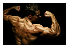 Premium-Poster  Bodybuilder in Pose