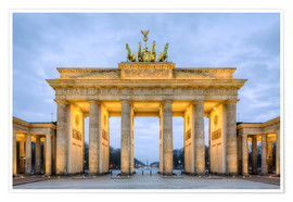 Premium-Poster  Brandenburger Tor in Berlin - Michael Valjak