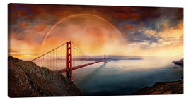 Leinwandbild  Frisco Golden Gate Rainbow - Michael Rucker